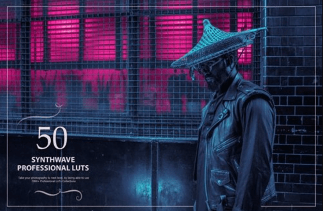Envato Elements 50 Synthwave LUTs (Look Up Tables)