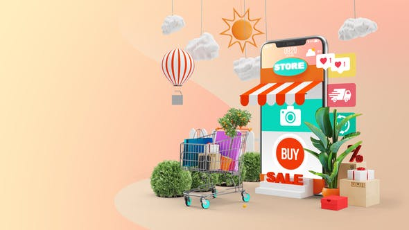 Videohive Mobile Online Shopping AE Project
