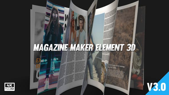 Magazine Maker Element 3D V3