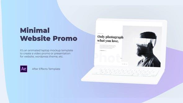 Minimal Website Promo - Laptop Mockup
