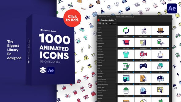 Videohive PremiumBuilder Animated Icons 29597517