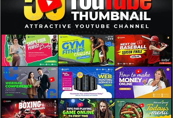 GraphicRiver 50-Youtube Thumbnail Templates
