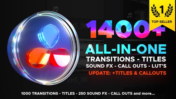 Videohive Transitions Library for DaVinci Resolve 29483279