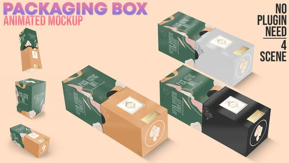 Videohive Packaging Box Animated Mockup 30950514