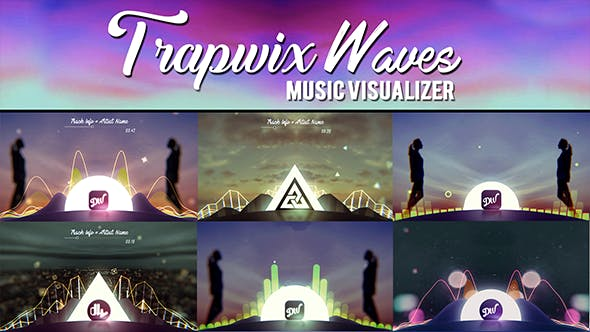 Videohive TrapWix Waves Music Visualizer 21461063
