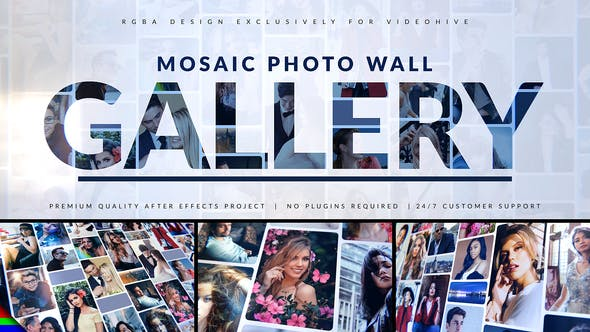 Videohive Mosaic Photo Gallery | Logo Reveal 31061347