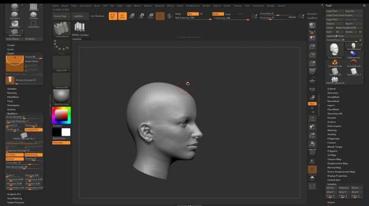 Sculpt And Modelling Your Very Own Custom Hair Brush And Hairstyle To Your 3D Character In Zbrush By Máté Vörös