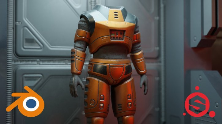 3D Game Art: Sci-fi Armor with Blender 2.9 and Substance Painter By Daniel Kim