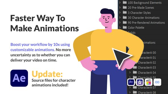 Videohive Character Animation Pack - Office and Corporate 30222701