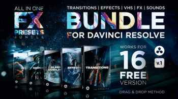 Videohive FX Presets Bundle for DaVinci Resolve | Transitions, Effects, VHS, SFX 30888590