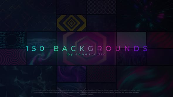 Videohive 150 Loop Backgrounds 31993643