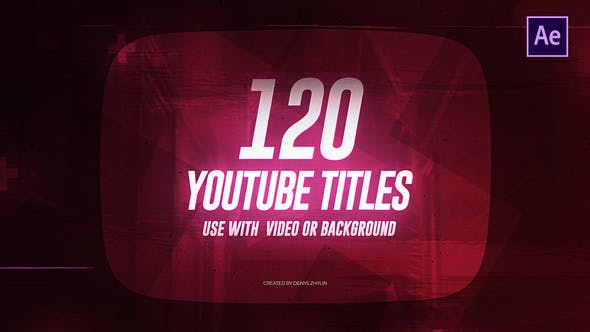 Videohive Youtube Titles 23400979