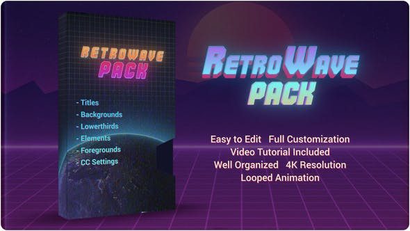 Videohive Retro Wave Pack 28786036