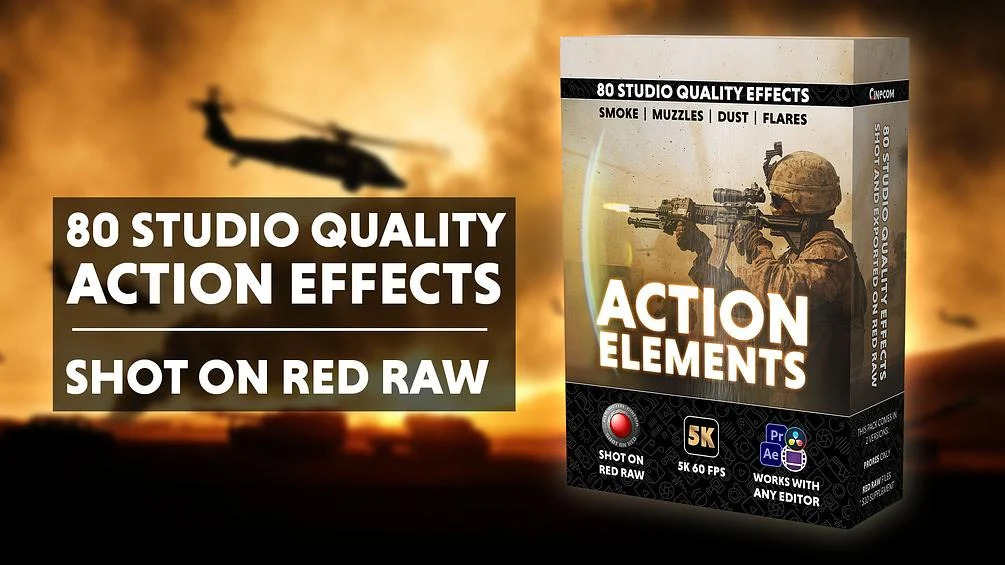 Cinecom - Action Elements Pack [5K RED RAW Effects]