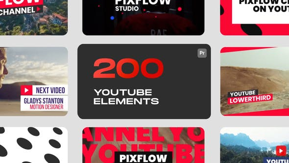 VideoHive YouTube Elements for Premiere Pro 33173834