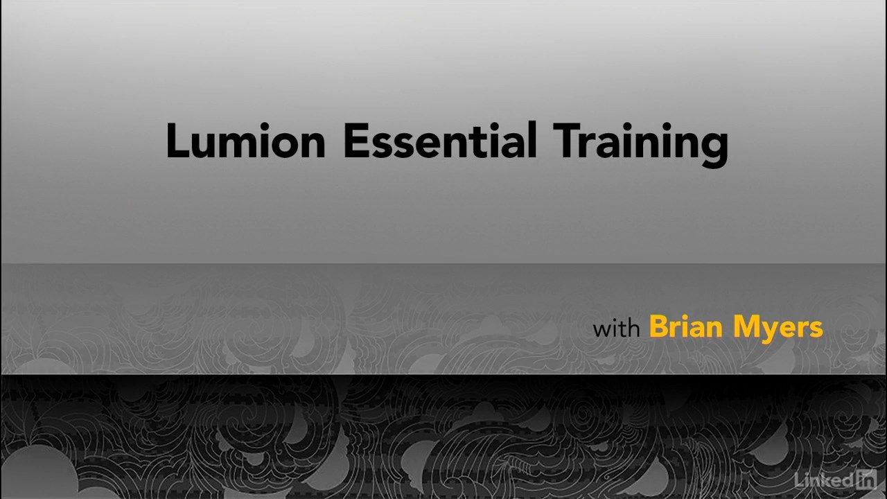 Lumion Essential Training By Brian Myers