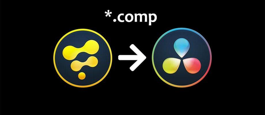 How to load a Fusion *.comp file into Davinci Resolve