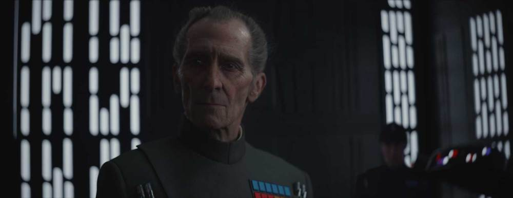 The digital Governor Tarkin in Rogue One