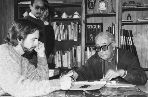 Ralston with legendary director Akira Kurosawa at a pre-production meeting for Dreams. Ralston says it was one of life's great honors working for him.