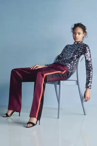 Why You Should Be Wearing A Tracksuit Right Now   British Vogue Wear with sequins