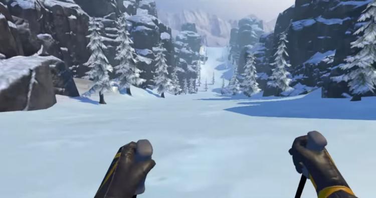 fancy skiing descente ski jeu en réalité virtuelle VR VGB EVENT Lyon Rhône-Alpes Paris France teambuilding seminaire anniversaire