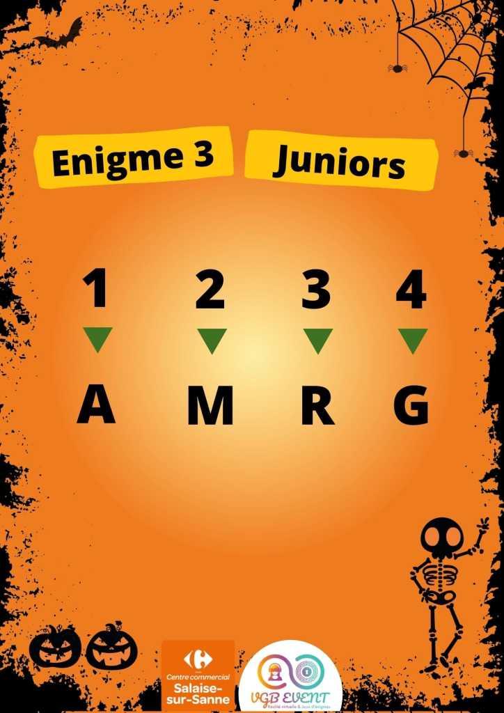 Halloween Enigme 3 juniors vgb event Carrefour Salaise-min