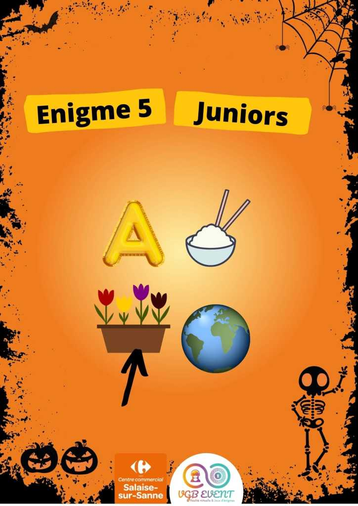 Halloween Enigme 5 juniors vgb event Carrefour Salaise-min