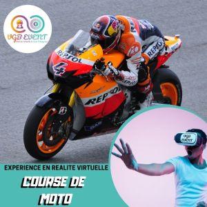 course de moto expériences en réalité virtuelle VGB EVENT Lyon Rhone alpes France
