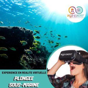 plongee sous marine expériences en réalité virtuelle VGB EVENT Lyon Rhone alpes France