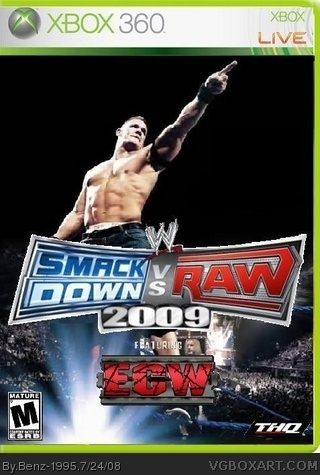 Smackdown VS Raw 2009 Xbox 360 Box Art Cover By Benz 1995