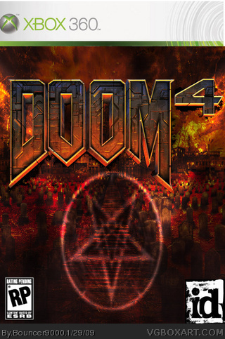 Doom 4 Xbox 360 Box Art Cover By Bouncer9000