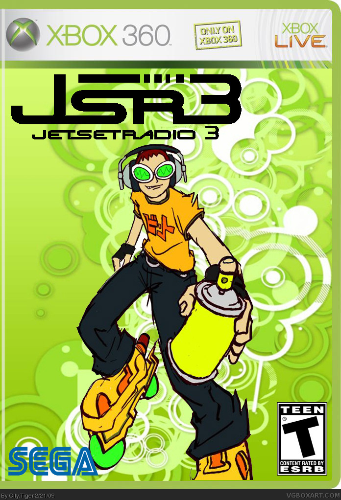 Jet Set Radio 3 Xbox 360 Box Art Cover By City Tiger