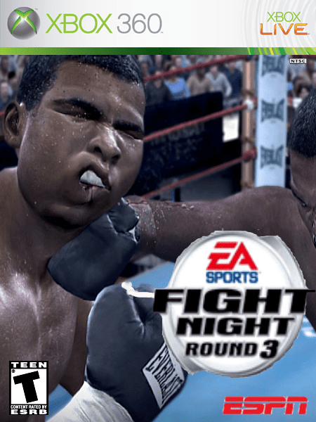EA Fight Night Round 3 Xbox 360 Box Art Cover By