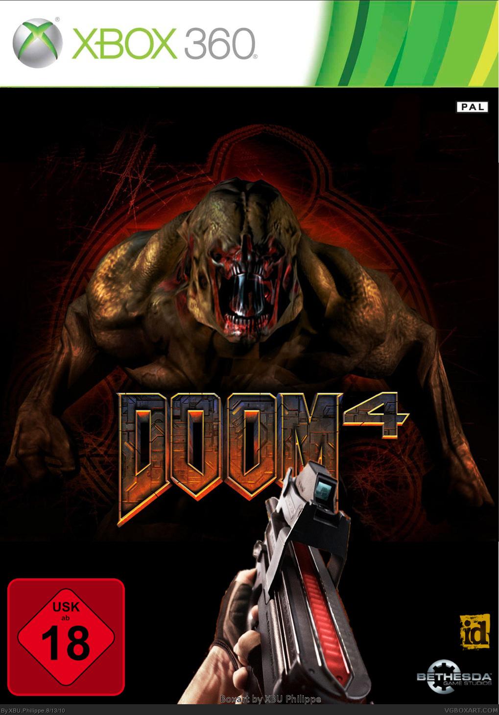 Doom 4 Xbox 360 Box Art Cover By XBU Philippe