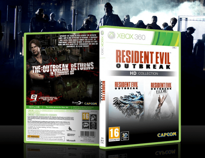 Resident Evil Outbreak HD Collection Xbox 360 Box Art