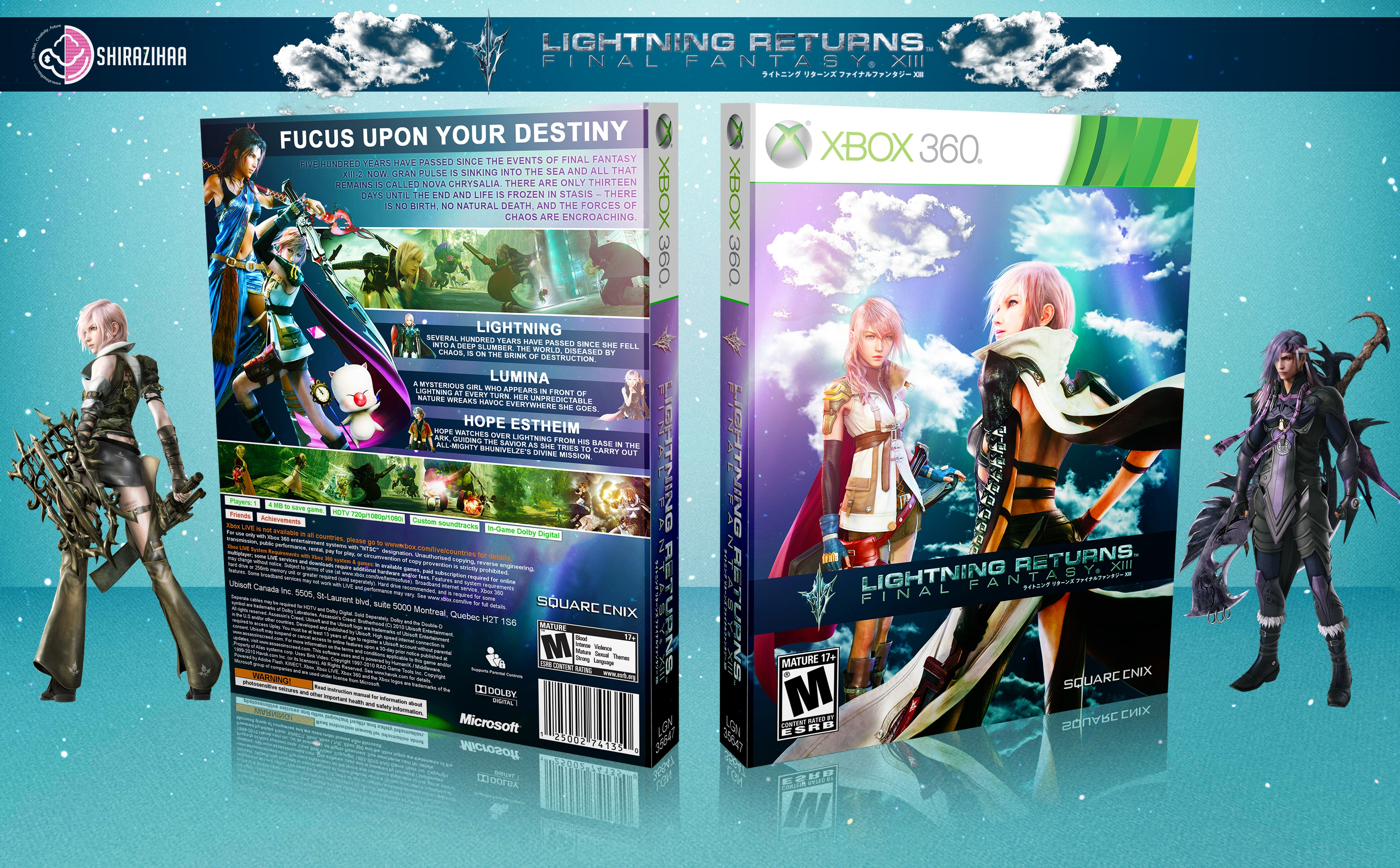 Lightning Returns FINAL FANTASY XIII Xbox 360 Box Art Cover By Shirazihaa