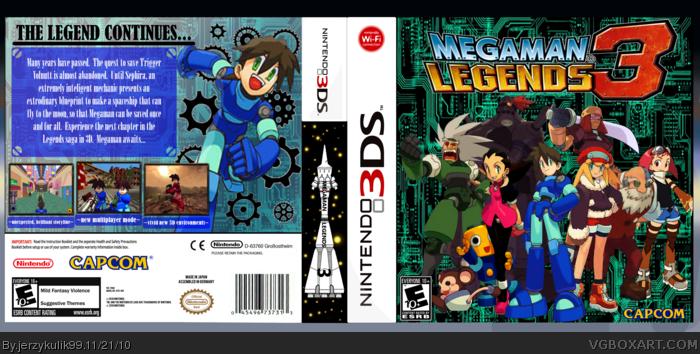 Megaman Legends 3 Nintendo 3DS Box Art Cover By Jerzykulik99