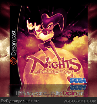 Nights Adventure Of Dreams Dreamcast Box Art Cover By
