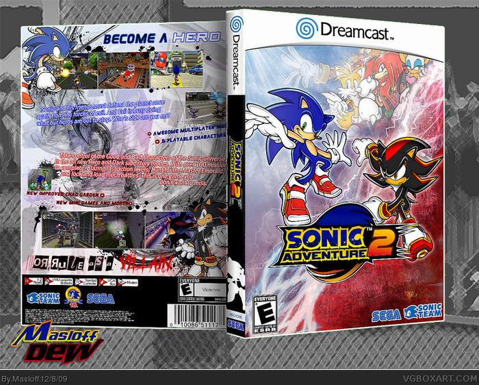 Sonic Adventure 2 Dreamcast Box Art Cover By Masloff