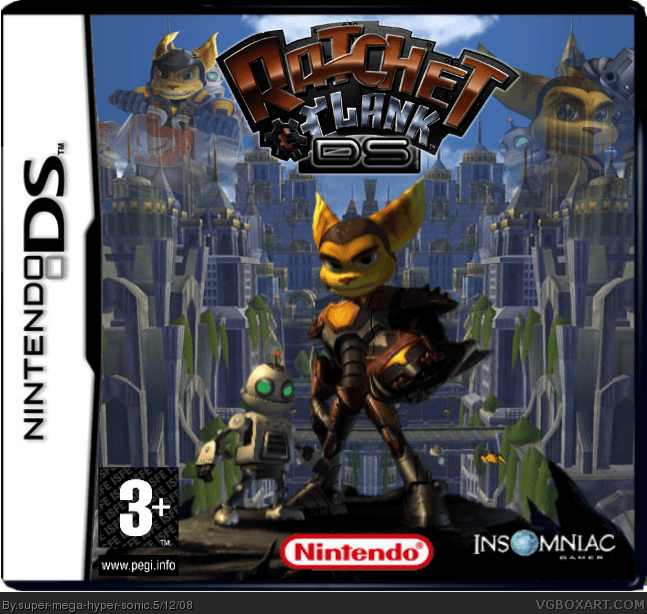 Ratchet And Clank DS Nintendo DS Box Art Cover By Super