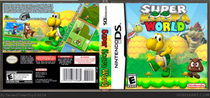 Super Koopa World Nintendo DS Box Art Cover By