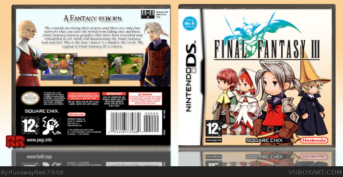Final Fantasy III Nintendo DS Box Art Cover By RunawayRed