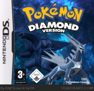 Pokemon Diamond Nintendo DS Box Art Cover By SNESuser
