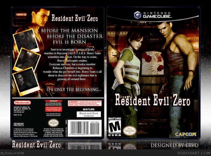 Resident Evil 0 GameCube Box Art Cover By Ervo