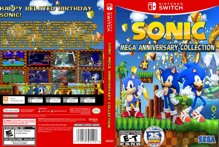 Sonic Mega Anniversary Collection Misc Box Art Cover By