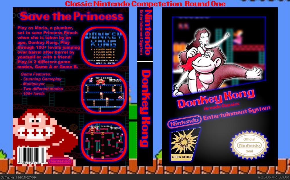 Donkey Kong NES Box Art Cover By Tucker1140