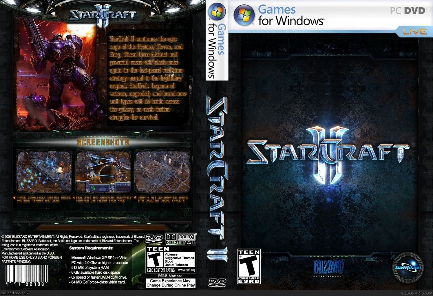StarCraft II PC Box Art Cover By Feed