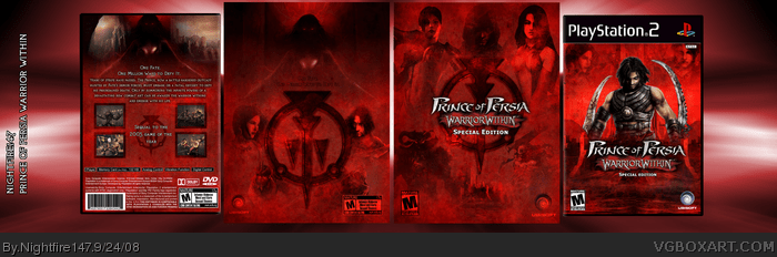 Prince Of Persia Warrior Within PlayStation 2 Box Art