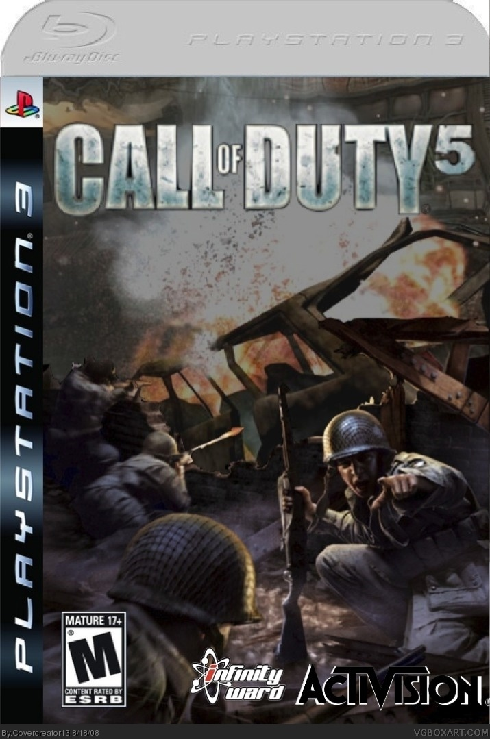 Call Of Duty 5 PlayStation 3 Box Art Cover By Covercreator13