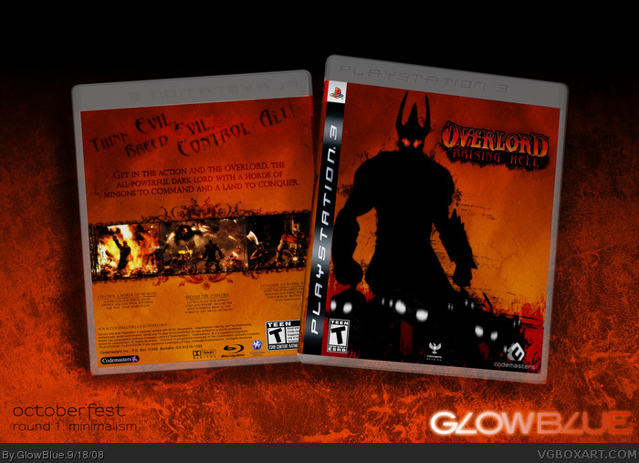 Overlord Raising Hell PlayStation 3 Box Art Cover By GlowBlue